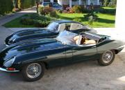 zielony jaguar cabrio